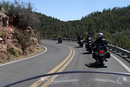motorcycle on road photo