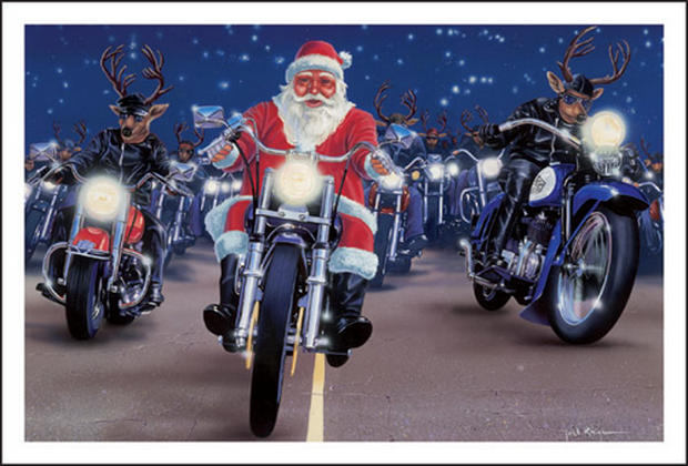 christmas is almost here top 10 awesome festive biker themed photos - Biker Christmas