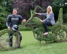 Motorcycle Topiary